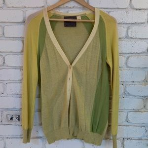 Anthropologie Green Cardigan